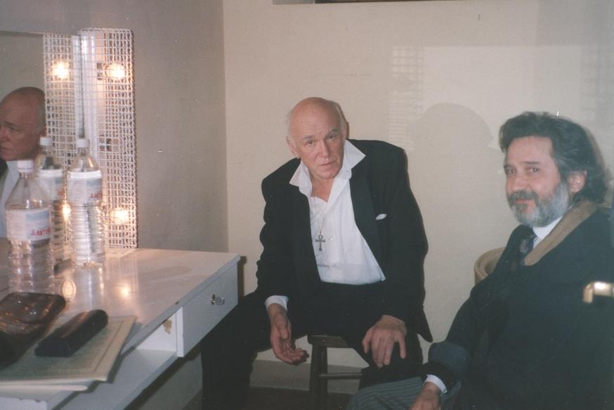 Після концерту в Сієні. В.Воскобойніков разом з С.Т.Ріхтером. 1981 рік