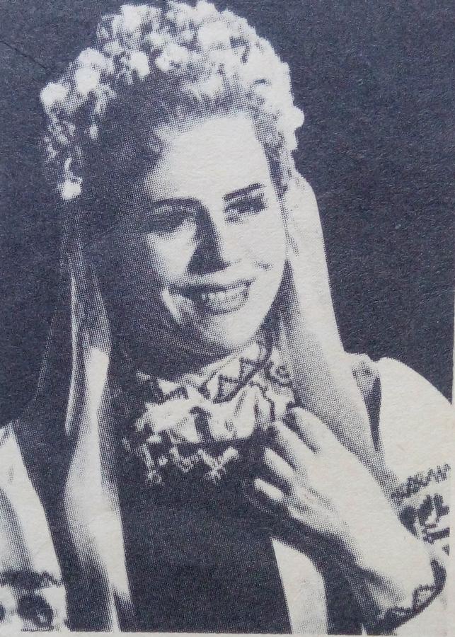 Л.В.Морозова-Тарасова ролі Оксани з опери С.Гулака-Артемовського «Запорожець за Дунаєм», 1978 рік